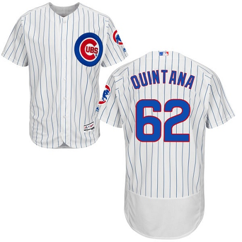 Men's Majestic Chicago Cubs #62 Jose Quintana White Home Flexbase Authentic Collection MLB Jersey