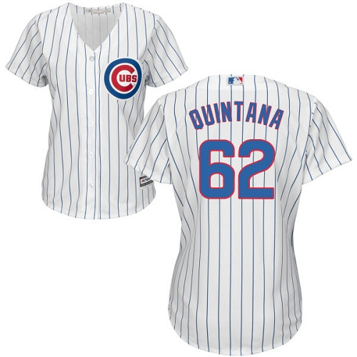 Women's Majestic Chicago Cubs #62 Jose Quintana Authentic White Home Cool Base MLB Jersey