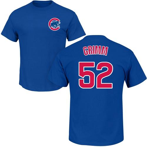 MLB Nike Chicago Cubs #52 Justin Grimm Royal Blue Name & Number T-Shirt