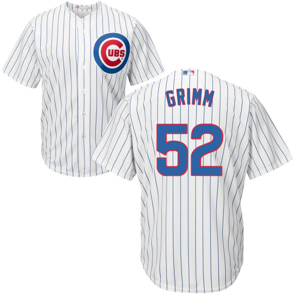 Men's Majestic Chicago Cubs #52 Justin Grimm Replica White Home Cool Base MLB Jersey