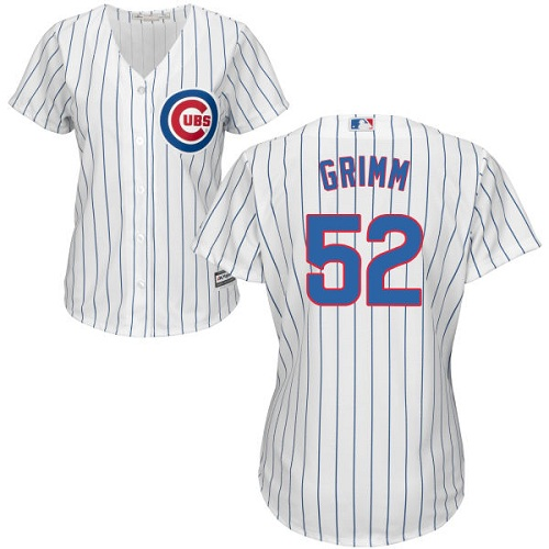 Women's Majestic Chicago Cubs #52 Justin Grimm Authentic White Home Cool Base MLB Jersey
