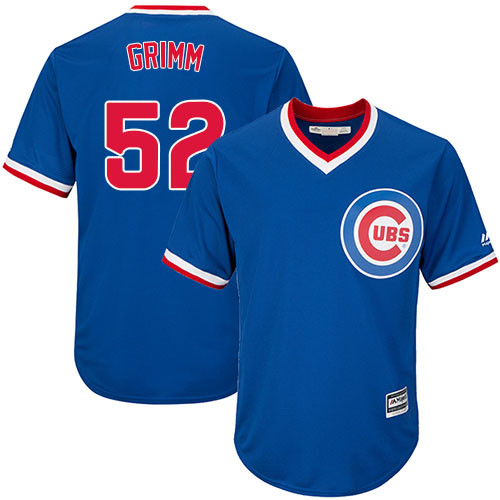 Youth Majestic Chicago Cubs #52 Justin Grimm Authentic Royal Blue Cooperstown Cool Base MLB Jersey