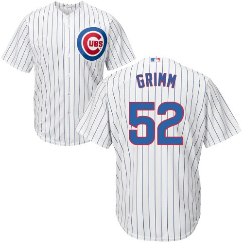 Youth Majestic Chicago Cubs #52 Justin Grimm Authentic White Home Cool Base MLB Jersey