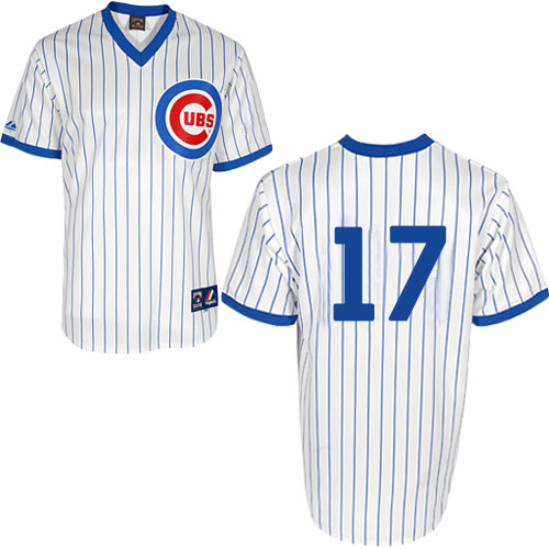 Men's Majestic Chicago Cubs #17 Kris Bryant Replica White 1988 Turn Back The Clock Cool Base MLB Jersey
