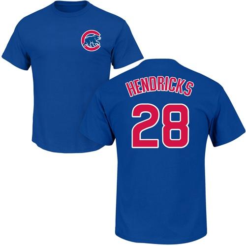 MLB Nike Chicago Cubs #28 Kyle Hendricks Royal Blue Name & Number T-Shirt