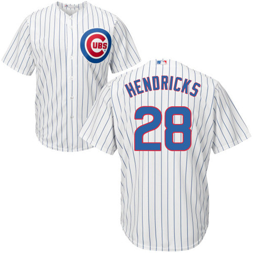 Youth Majestic Chicago Cubs #28 Kyle Hendricks Authentic White Home Cool Base MLB Jersey