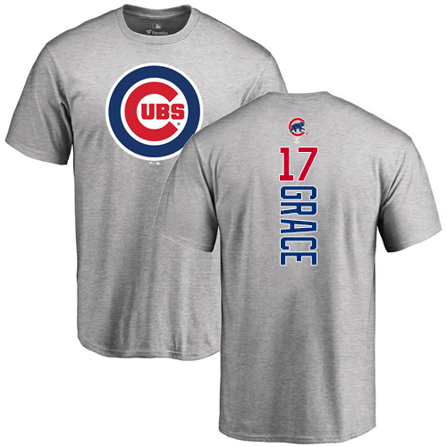MLB Nike Chicago Cubs #17 Mark Grace Ash Backer T-Shirt