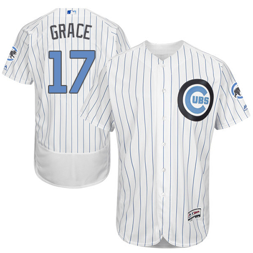 Men's Majestic Chicago Cubs #17 Mark Grace Authentic White 2016 Father's Day Fashion Flex Base MLB Jersey