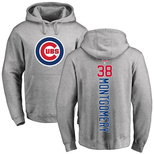 MLB Nike Chicago Cubs #38 Mike Montgomery Ash Backer Pullover Hoodie