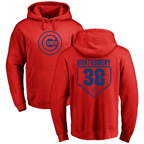 MLB Nike Chicago Cubs #38 Mike Montgomery Red RBI Pullover Hoodie