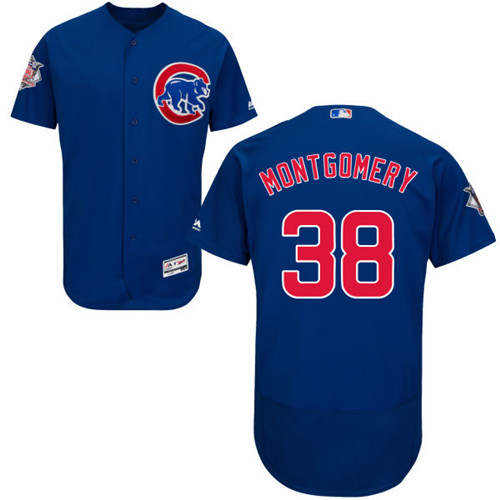 Men's Majestic Chicago Cubs #38 Mike Montgomery Royal Blue Alternate Flexbase Authentic Collection MLB Jersey