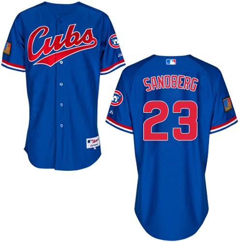 Men's Majestic Chicago Cubs #23 Ryne Sandberg Replica Royal Blue 1994 Turn Back The Clock MLB Jersey