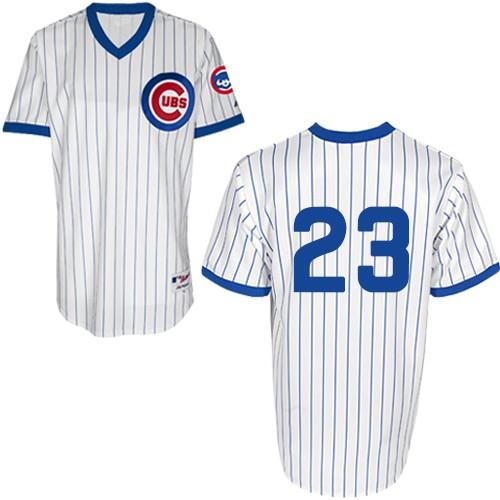 Men's Majestic Chicago Cubs #23 Ryne Sandberg Replica White 1988 Turn Back The Clock MLB Jersey
