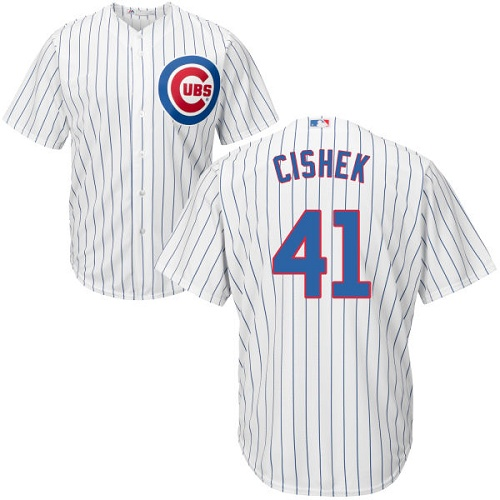 0d6a2588f88 Youth Majestic Chicago Cubs  41 Steve Cishek Authentic White Home Cool Base  MLB Jersey