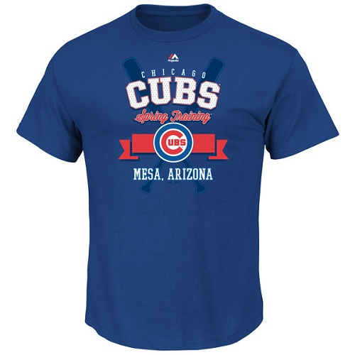 MLB Chicago Cubs Majestic 2016 Heart and Soul Spring Training T-Shirt - Royal