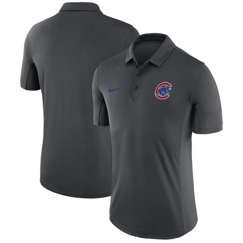 MLB Men's Chicago Cubs Nike Anthracite Franchise Polo T-Shirt