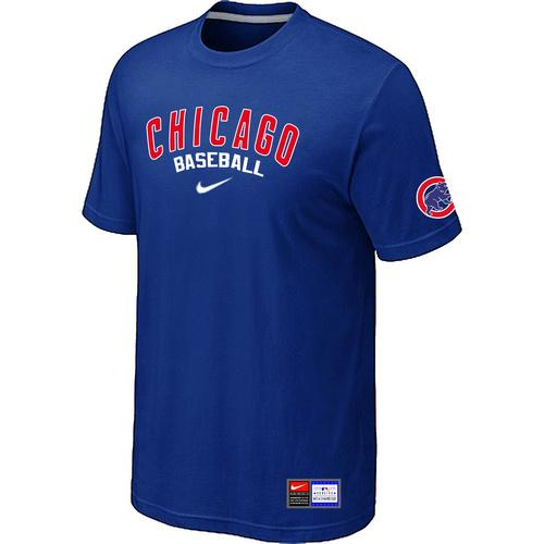MLB Men's Chicago Cubs Nike Practice T-Shirt - Blue