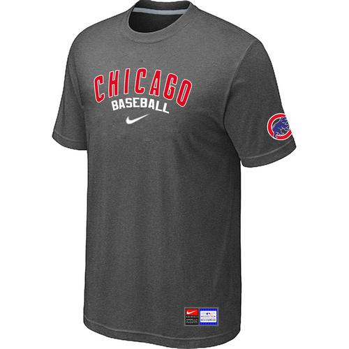 MLB Men's Chicago Cubs Nike Practice T-Shirt - Dark Grey