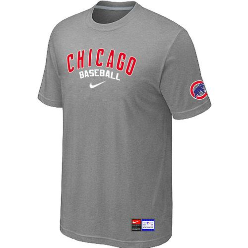 MLB Men's Chicago Cubs Nike Practice T-Shirt - Grey