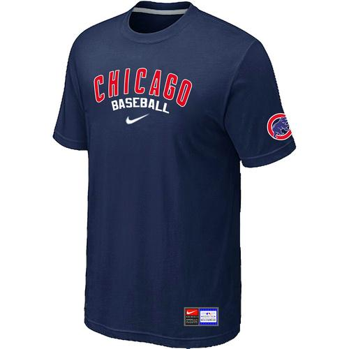 MLB Men's Chicago Cubs Nike Practice T-Shirt - Navy