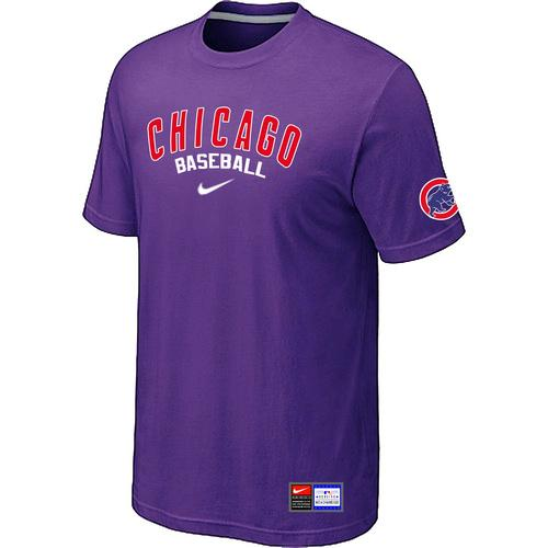 MLB Men's Chicago Cubs Nike Practice T-Shirt - Purple