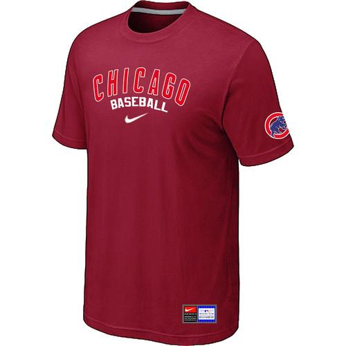 MLB Men's Chicago Cubs Nike Practice T-Shirt - Red
