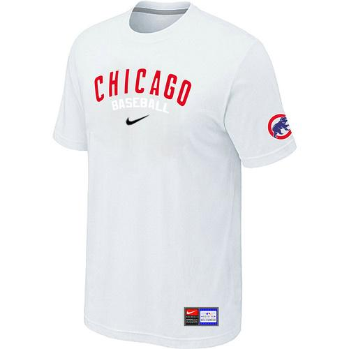MLB Men's Chicago Cubs Nike Practice T-Shirt - White