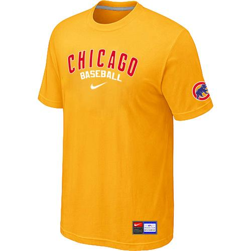 MLB Men's Chicago Cubs Nike Practice T-Shirt - Yellow