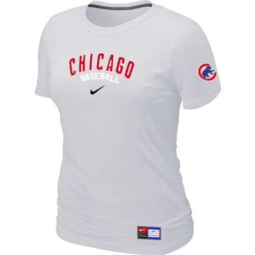 MLB Women's Chicago Cubs Nike Practice T-Shirt - White